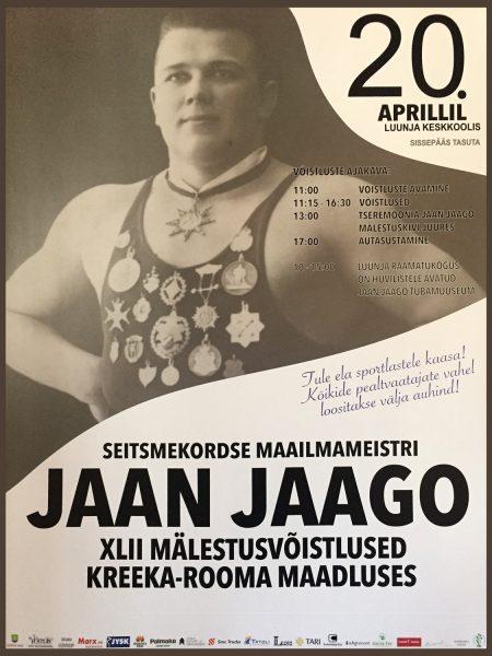 Jaan Jaago XLII mälestusvõistlused 2019