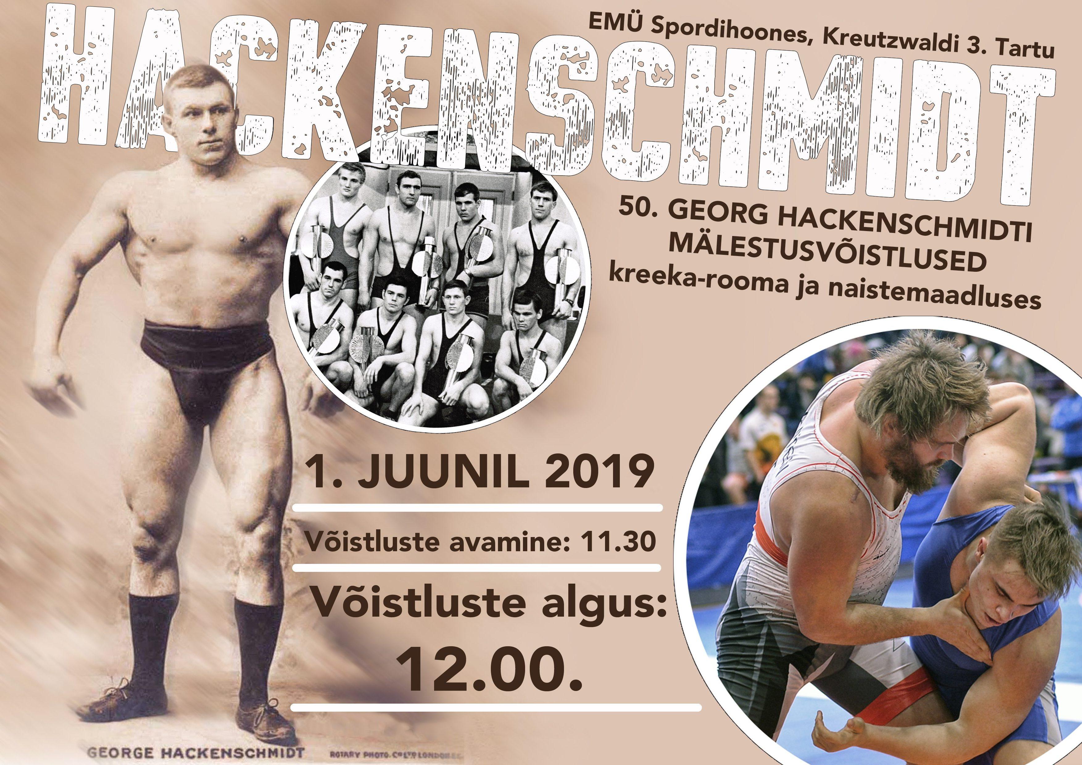L G.Hackenschmidti mälestusvõistlused 2019